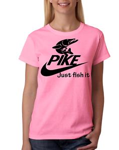 82ac754e NIKE tshirt Mens Womens Kids JUST FISH IT Funny Fishing sea fishing ...