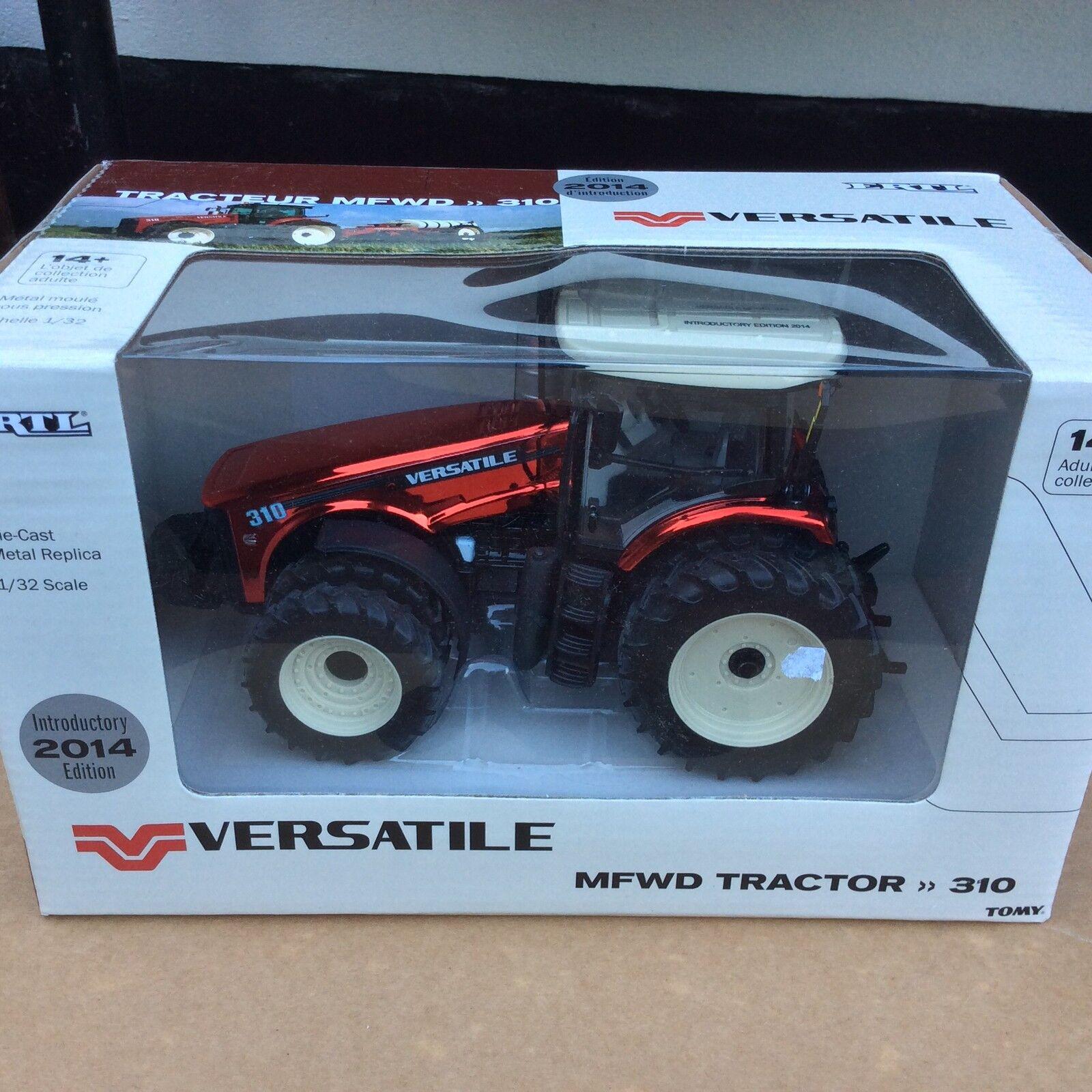 Escala 1 32 versátil 310 Tractor Tracteur Traktor Chase unidad roja cromo Ertl