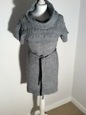 Zara Ladies Women's Grey Wool Mix Winter Autumn Warm Dress Size Large 10/12