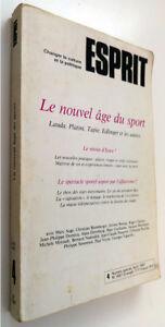 """Le nouvel âge du sport Revue Esprit n°4 Avril 1987 Pociello Vigarello Ehrenberg - France - Commentaires du vendeur : """"Etat correct"""" - France"""