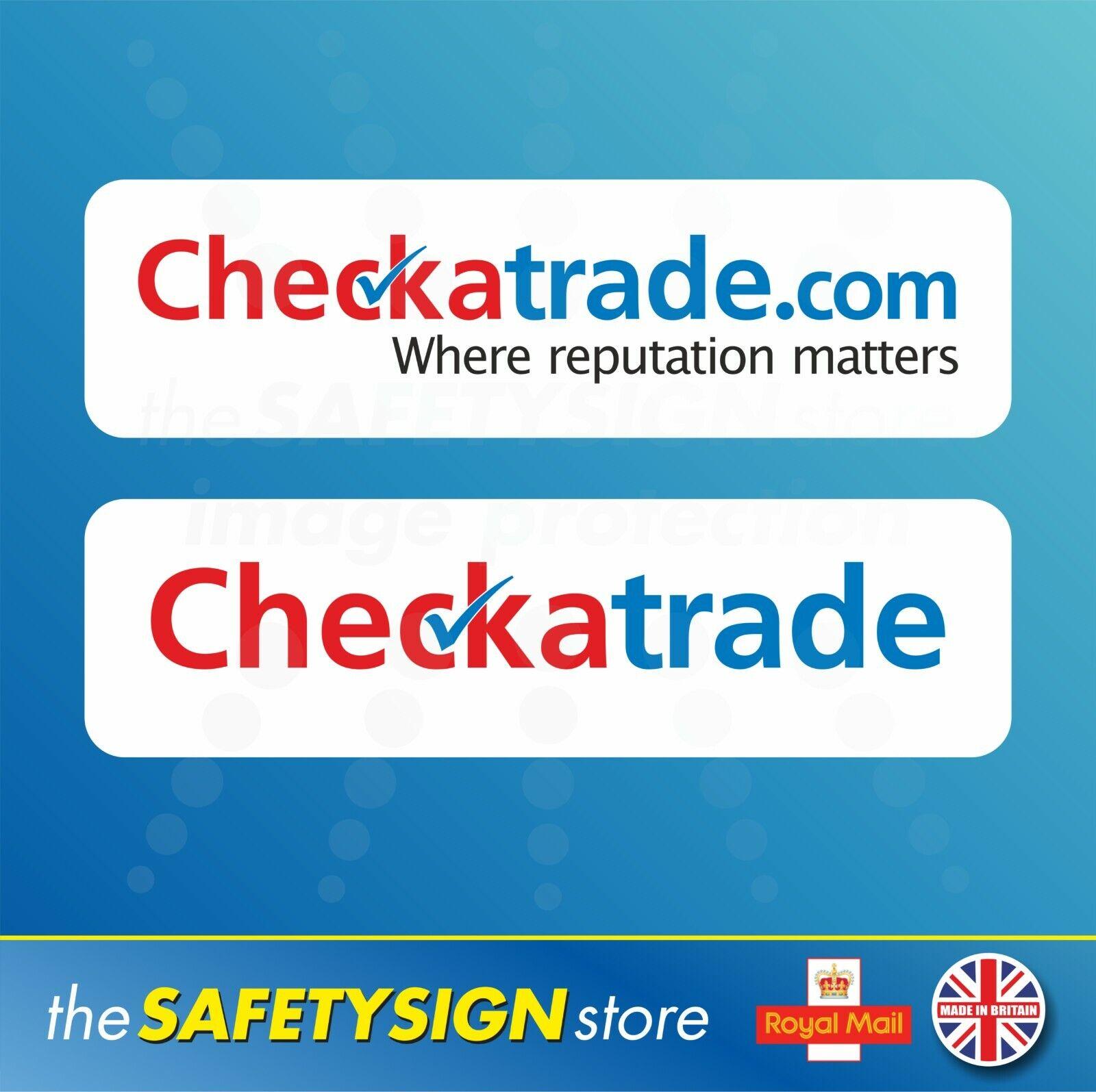 Checkatrade.com Where reputation matters Check a trade Stickers Magnetic Signs