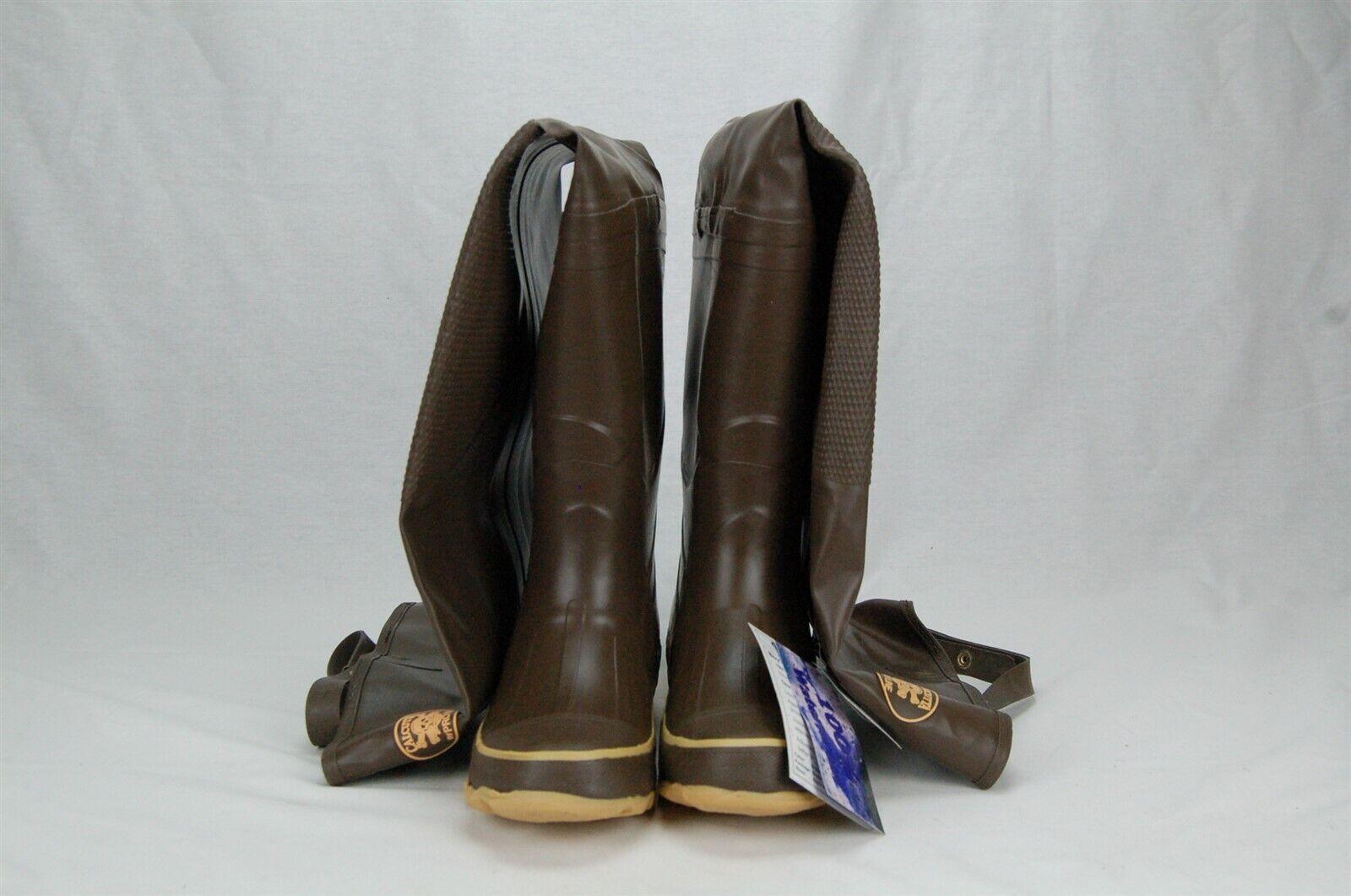Calcutta Pro Line Niño Suela de caucho de cadera botas Cleated Marrón