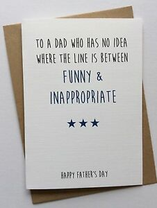 handmade personalised birthday card dad funny inappropriate