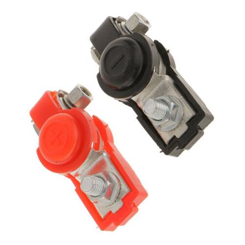 2Pcs Adjustable Car Battery Terminal Connector Ends Clamp Positive /& Negative