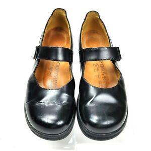 Birkenstock-Footprints-Black-Leather-Mary-Jane-Comfort-Flats-Size-37-US-6-6-5