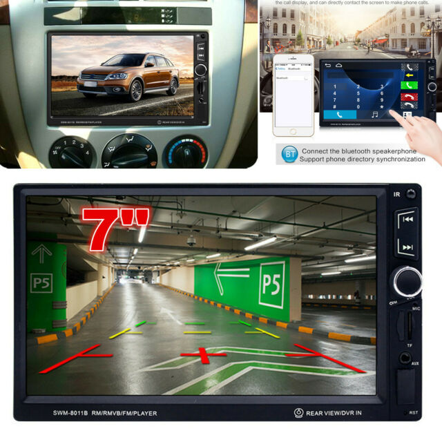 2Din 1080P Car Radio MP5 Player Rearview Camera Audio Android Phone Mirror Link