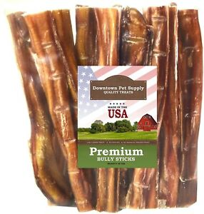 6 and 12 inch American USA Bully Sticks for Dogs (Bulk Bags by Weight)