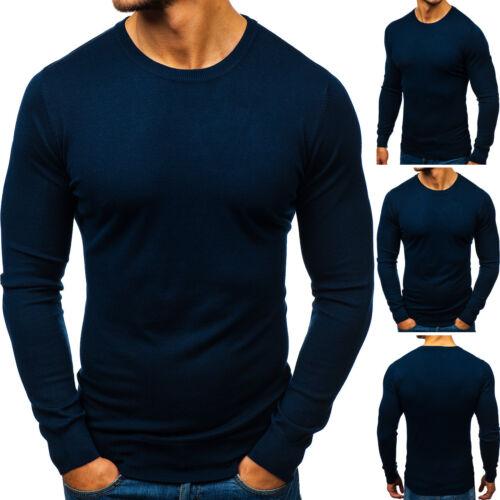 Strickjacke Strickpullover Sweater Pullover Rundhals Herren BOLF 5E5 Unifarben