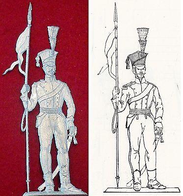 Ulan Mit Lanze Um 1809 - Österreichische Kavallerie - Zinnfigur 90mm - Blank Husten Heilen Und Auswurf Erleichtern Und Heiserkeit Lindern