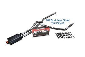 "Ford F-150 87-97 2.5/"" Dual Exhaust Kits Flowmaster Super 10 Slash Tip Corner"