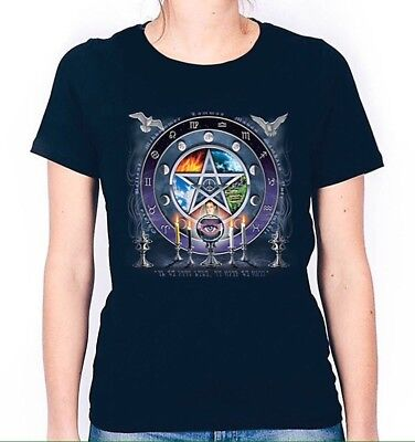 Ladies T-Shirt LOVE WICCA Heart Pagan Witchcraft Witch Paganism Novelty