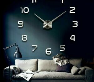 Home-Wall-Clock-Watch-3D-DIY-Mirror-Acrylic-Stickers-Modern-Decoration-Accessory