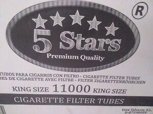 11000-Cigarrillos-vacios-Tubos-con-filtro-normal-20-cajas-de-550
