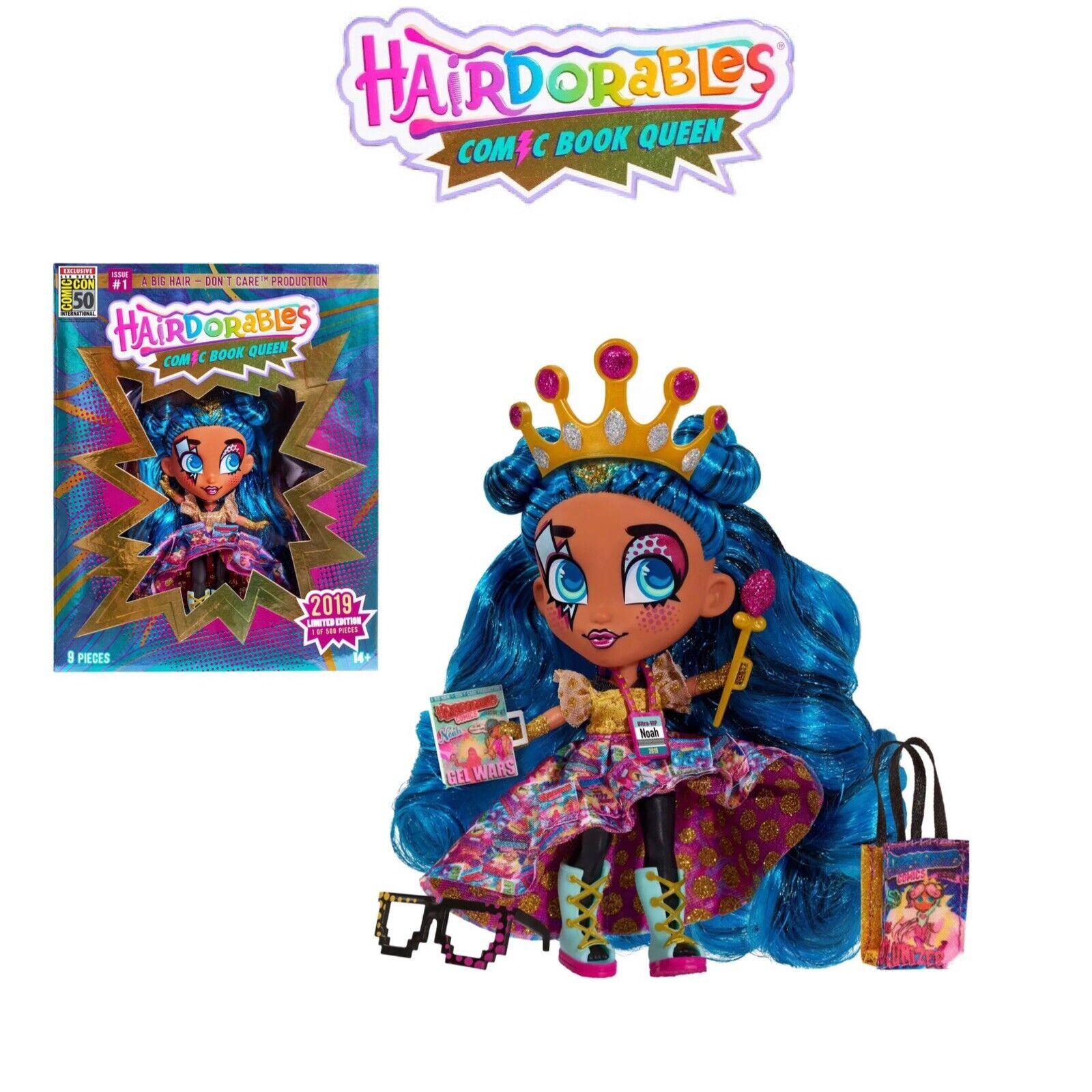 Hairdorables Comic Book Reina exclusiva Muñeca Nueva Edición Limitada Convención de UCC