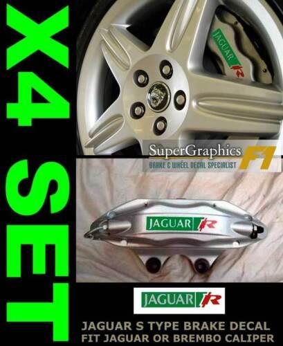 Type R pour s/'adapter JAGUAR Étrier Réparation Autocollant Decal Cut pour S Type grnredsil x4