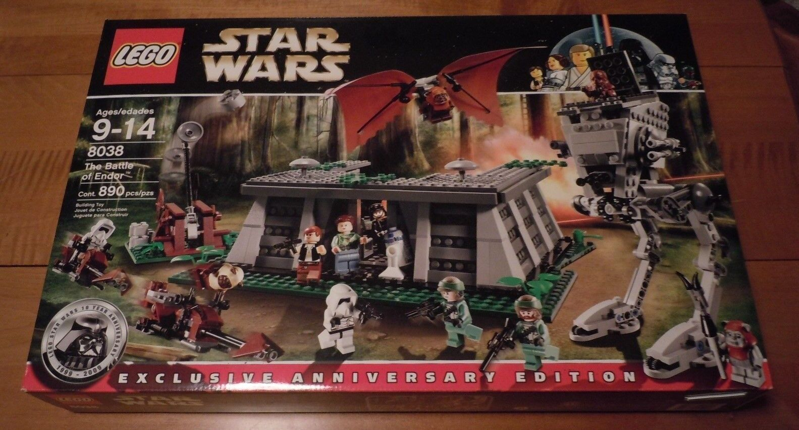 LEGO Star Wars Battle of Endor Set 8038 Nuovo 12 Minifigs Ewoks Scout Troopers