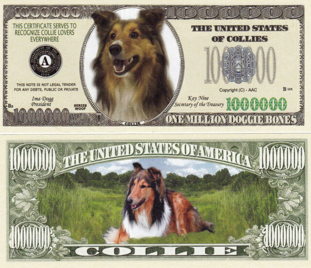 10 Dachshund K-9 Dog Collectible Novelty Money Bills #281