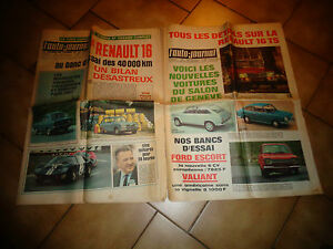 L-039-AUTO-JOURNAL-Renault-16-R16-Ford-Escort-Zodiac-Valiant-Rover-2000-Auto-Japon