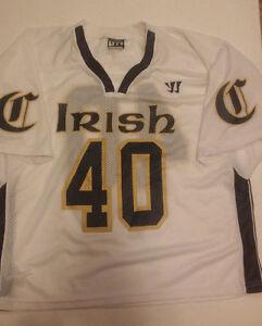 Mens-Irish-Lacrosse-Jersey-40-Large-Warrior-Authentic