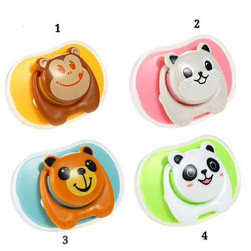 Cartoon Baby Pacifier Nipple Silicone Animal Teeth Soother Toodler Pacifiers