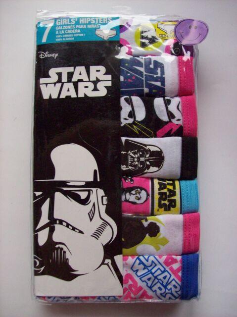 Star Wars Underwear Underpants Girls 7 Hipsters Pk Select Sz 4 6 8 10 Disney NIP