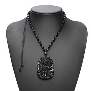 Natural-Obsidian-Fashion-Dragon-Pendant-Necklace-Men-Lucky-Jewelry-1
