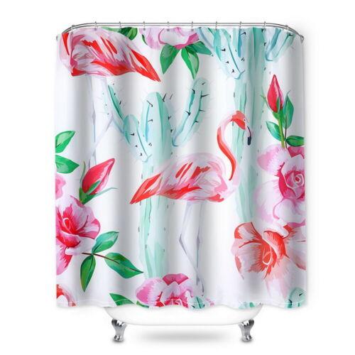 180x180cm Floral Curtain Waterproof Washable Fabric Shower Bathroom Curtain 34