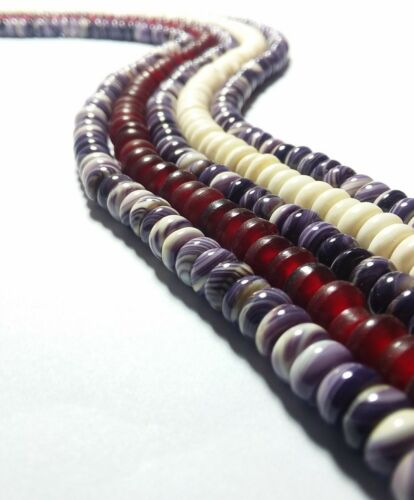 1 Rondelle Strand High polish Wampum beads