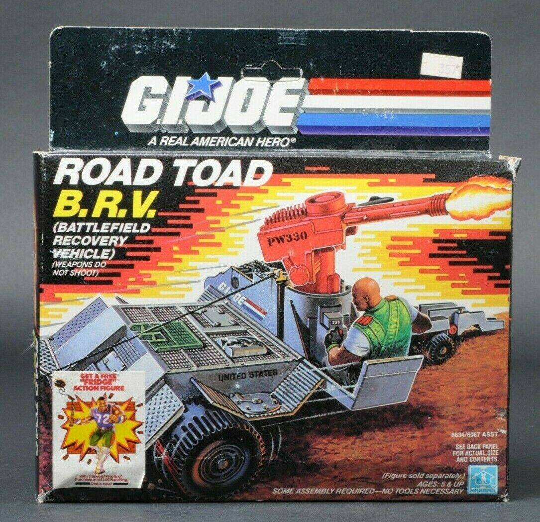 1987 Hasbro GI  Joe Series 6 strada Toad BRV B.R.V. MIB Sealed Contents  benvenuto per ordinare