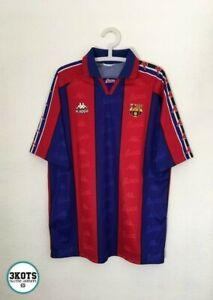 BARCELONA-FC-1995-97-Kappa-Home-Football-Shirt-XL-Vintage-Soccer-Jersey-Camiseta