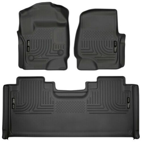 Husky Liners 94071 WeatherBeater Front//2nd Seat Floor Liner For F250 Super Duty