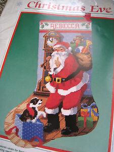 Dimensions Needlepoint Stocking Kit,CHRISTMAS EVE,Santa ...