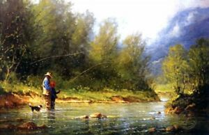 G-Harvey-IN-MY-FATHER-039-S-PRESENCE-15x24-Young-Life-Fishing-A-P-Paper-Art-Print