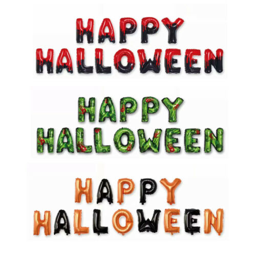 16inch Happy Halloween Letter Foil Balloons Hanging Balloons Party Decoration