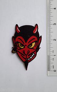 DEVIL HEAD MECHANIC RACING CAR Embroidered PATCH Applique HOTROD Dean Lee Norton