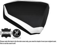 DESIGN 2 WHITE & BLACK CUSTOM FITS KTM RC8 R 1190 REAR LEATHER SEAT COVER