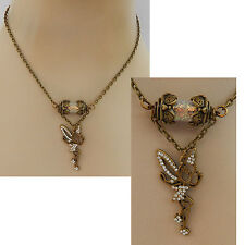 Gold Fairy Glass Vial Pendant Necklace Jewelry Handmade NEW Chain Accessories