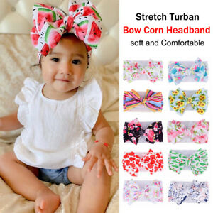 Baby-Toddler-Girls-Kids-Boho-Print-Bow-Knot-Turban-Headband-Hair-Band-Headwrap