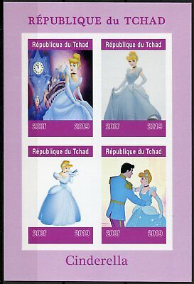 Latest Collection Of Chad 2019 Mnh Cinderella 4v Impf M/s Disney Cartoons Animation Stamps Topical Stamps Animation, Cartoons