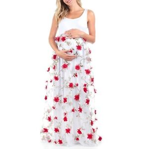 73c58cb561 Mother Bee Maternity Women s 3D Floral Maternity Dress - Size M