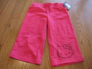 a9c802ba2 Image is loading Girls-Hello-Kitty-pink-pants-Capri-2T-HK55301-