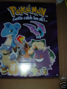 "Pokemon Gengar Charizard Blastoise Laprus Eevee Blastoise Poster 17/""x 20/"" 398"
