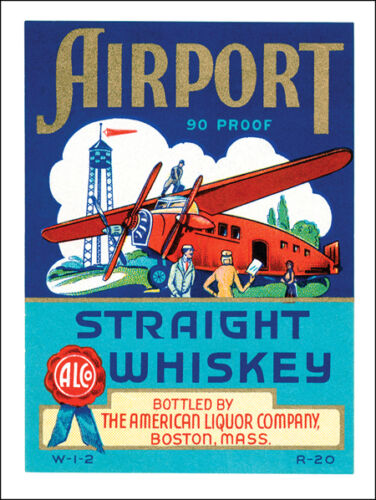 Airport Straight Whiskey Alcohol Liquor Spirits Drinking Metal Sign