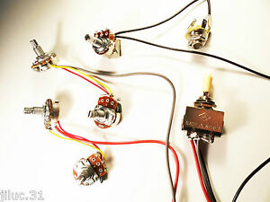 New-KIT-cable-Les-Paul-amp-SG-push-pull-wiring-kit-guitare