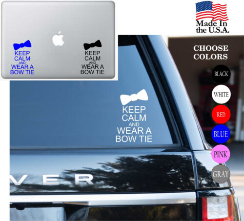 Wall, Who KEEP CALM AND Wear A Bow Tie Vinyl Decal Sticker Laptop Dr Car