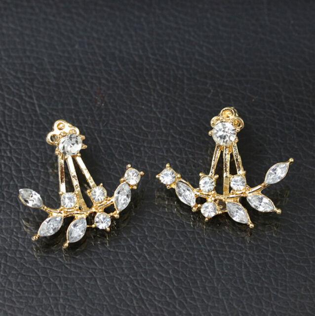 Rhinestone Stud Earrings Fashion New Jewelry Crystal Women Pearl Ear Gift