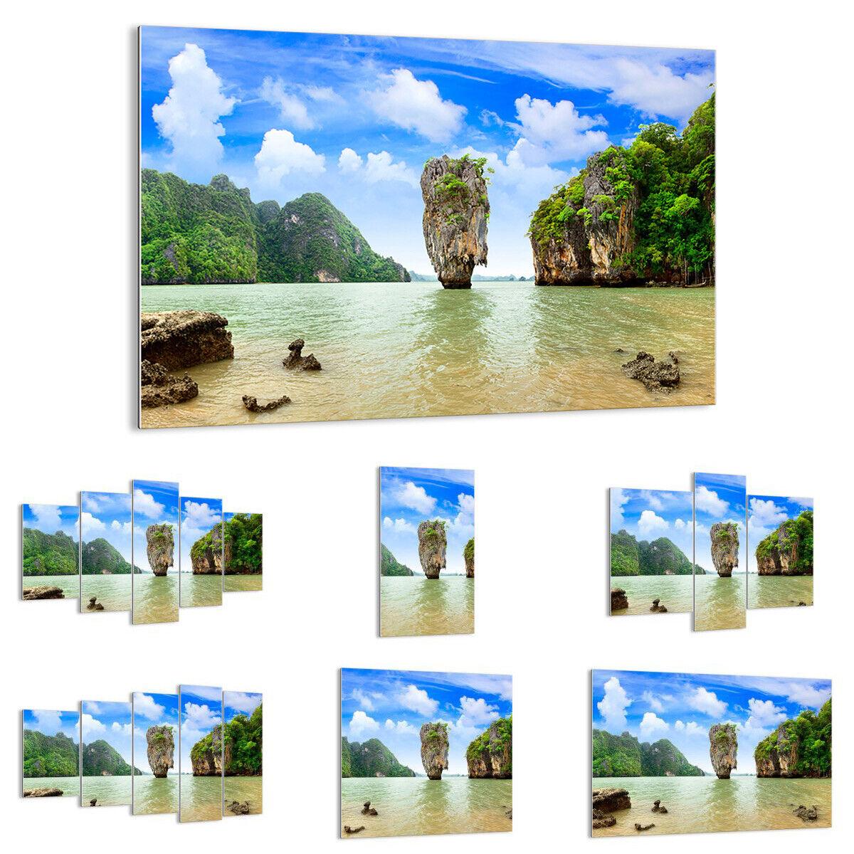 IMAGEN EN VIDRIO Cuadro Piedra Playa Paisaje 0224 ES