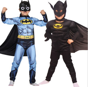 Kids Boys Batman Fancy Dress Up Play Costumes Halloween Cosplay Suit Party Gift