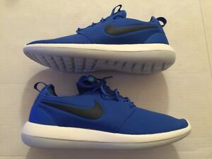 promo code 054f2 10ba7 Details about Nike Roshe Two SE Mens Running Shoes Sz 10 Sneakers Blue  Black White 859543 400