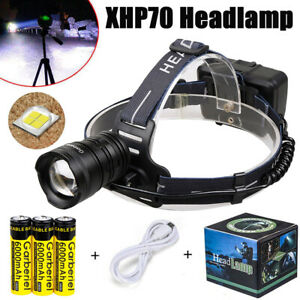 990000LMS-XHP70-LED-Headlamp-Headlight-Head-Lamp-Zoomable-USB-Rechargeable-18650